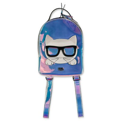 Karl Lagerfeld iridescent Choupette nylon backpack