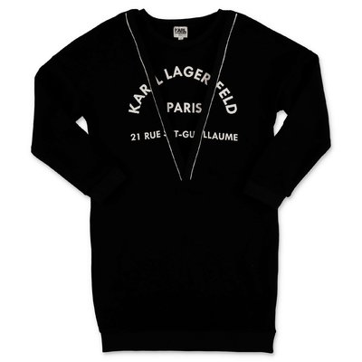 Karl Lagerfeld black layered effect sweatshirt dress