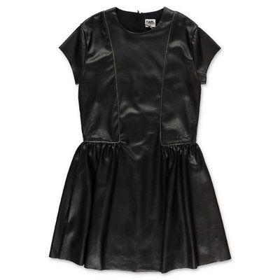 Karl Lagerfeld black faux leather dress