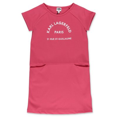 Karl Lagerfeld abito rosa in misto viscosa