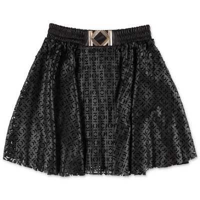 Karl Lagerfeld black faux leather skirt