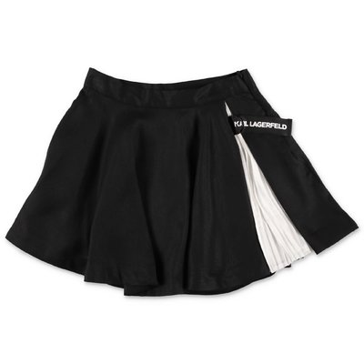 Karl Lagerfeld black techno fabric skirt