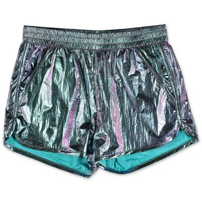 Karl Lagerfeld iridescent techno shorts