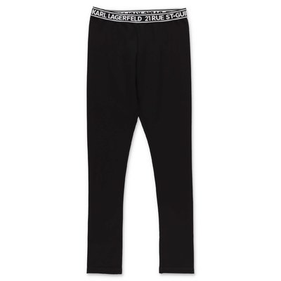 Karl Lagerfeld leggings neri in misto viscosa stretch