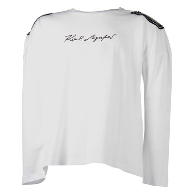 T-shirt bianca in jersey di cotone con