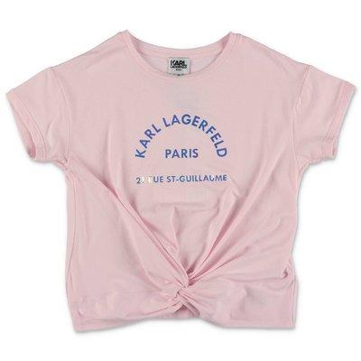 Karl Lagerfeld pink cotton & modal jersey t-shirt
