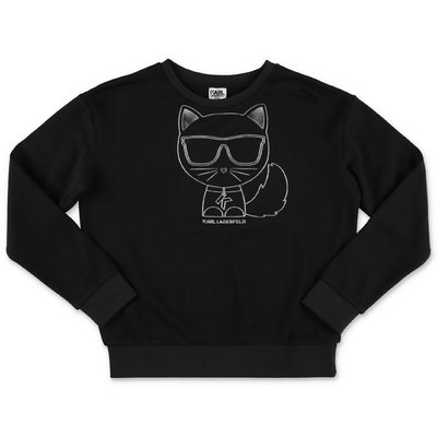 Karl Lagerfeld black cotton Choupette sweatshirt