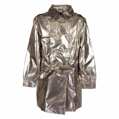 Golden trench coat