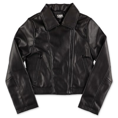 Karl Lagerfled black faux leather jacket