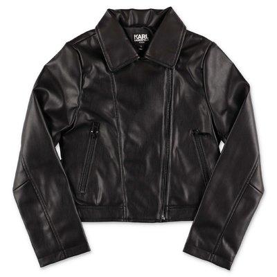 Karl Lagerfled black faux leather jacket