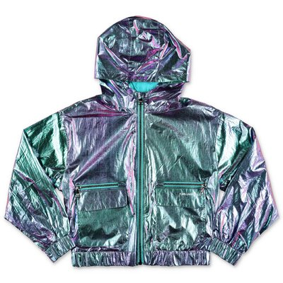 Karl Lagerfeld iridescent nylon hooded jacket
