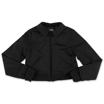 Karl Lagerfeld giacca nera in nylon
