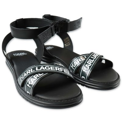 Karl Lagerfeld black logo detail sandals
