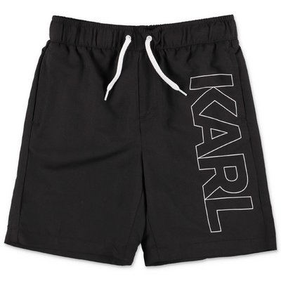 Karl Lagerfeld black nylon swim shorts