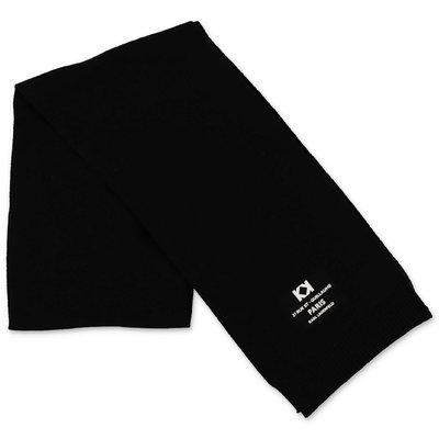 Karl Lagerfeld black logo detail knit scarf
