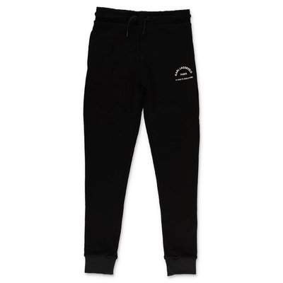 Karl Lagerfeld black cotton sweatpants
