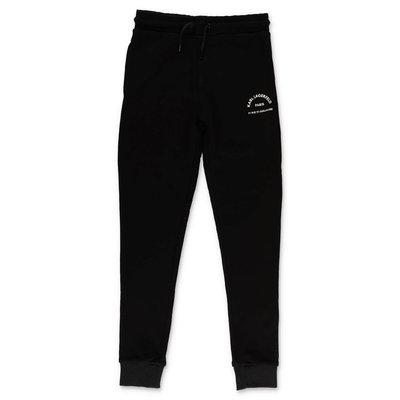 Karl Lagerfeld pantaloni neri in felpa di cotone