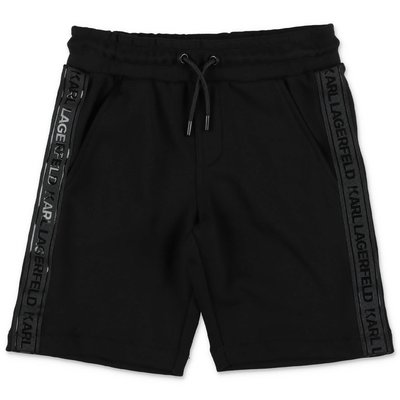 Karl Lagerfeld black cotton sweat shorts