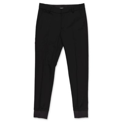 Karl Lagerfeld black cool wool pants