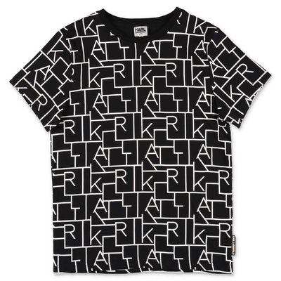 Karl Lagerfeld black cotton jersey t-shirt