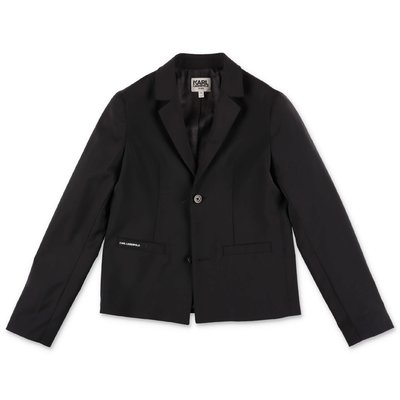 Karl Lagerfeld black cool wool jacket