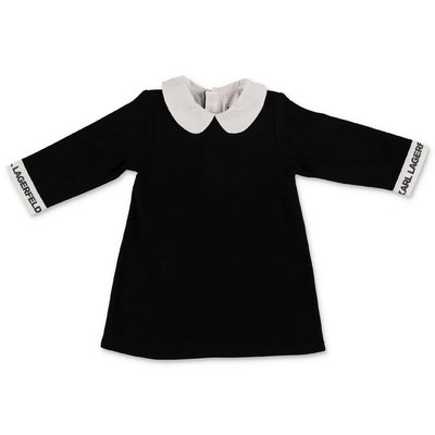 Karl Lagerfeld black cotton jersey dress