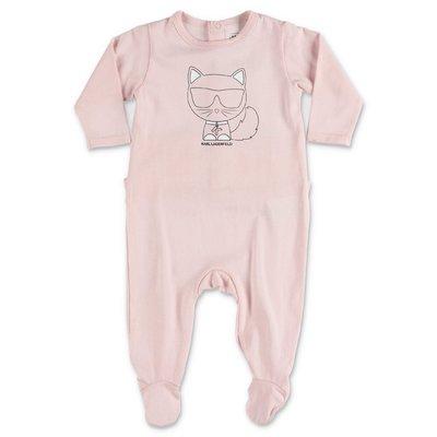 Karl Lagerfeld pink cotton jersey romper