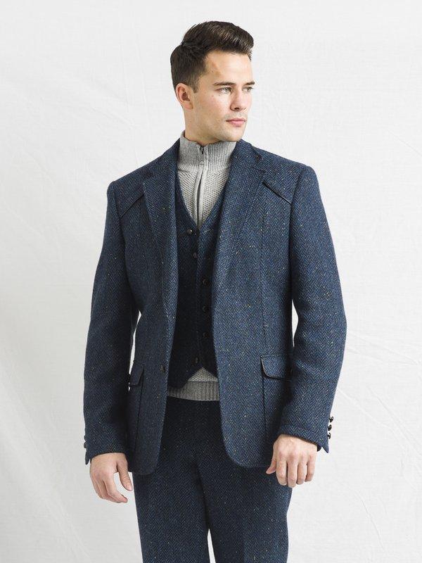 Blue Three Piece Suit
