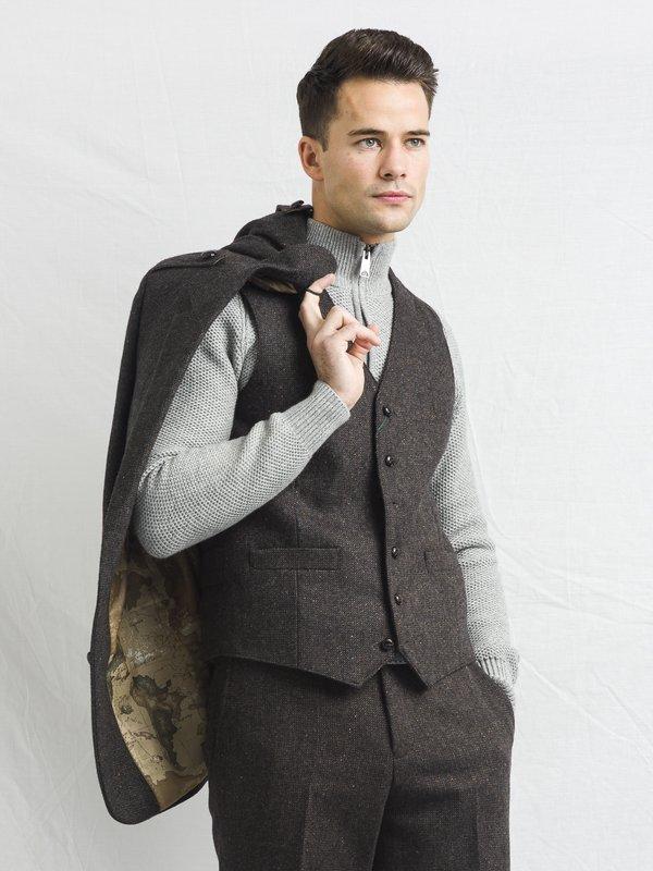 Brown Three Piece Suit