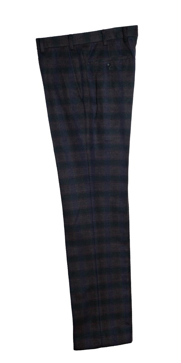 The Clarke  Burgundy  Checked Trousers