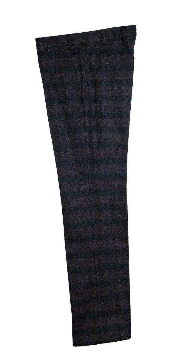 Le Clarke - Pantalon à carreaux de Bourgogne