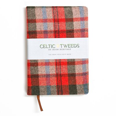 Red Check A5 Note Book - Red