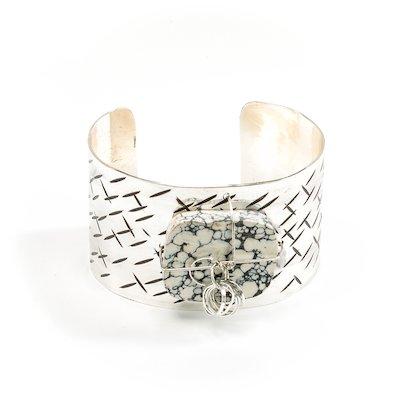 Sterling Silver Cuff Bracelet - Silver