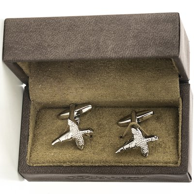 Silver Phesant Cufflinks - Silver