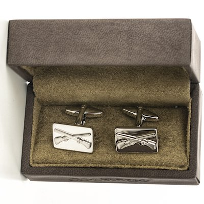 Rifle Cufflinks - Silver