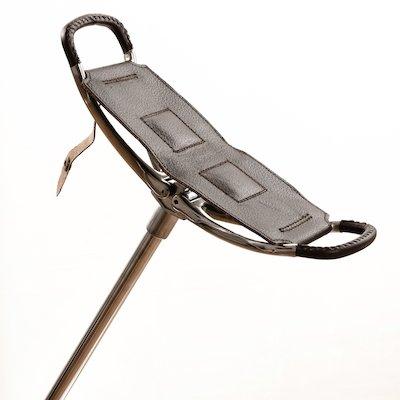 Bâton de tir avec siège en cuir brun