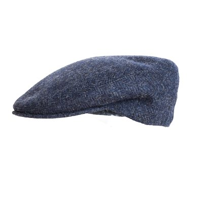 Blue Donegal Tweed Flat Cap - Blue