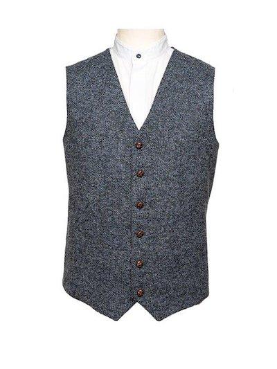 Blue Fleck waistcoat