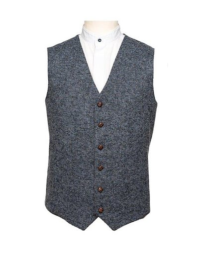 Blue Fleck Effect Waistcoat