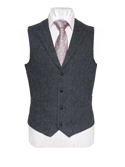 WB Yeats tweed waistcoat with collar