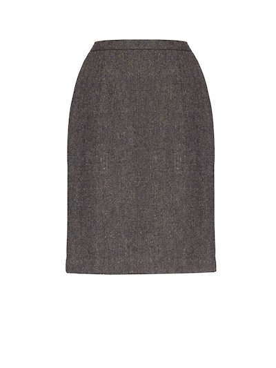 Brown Knee Length Skirt - Brown
