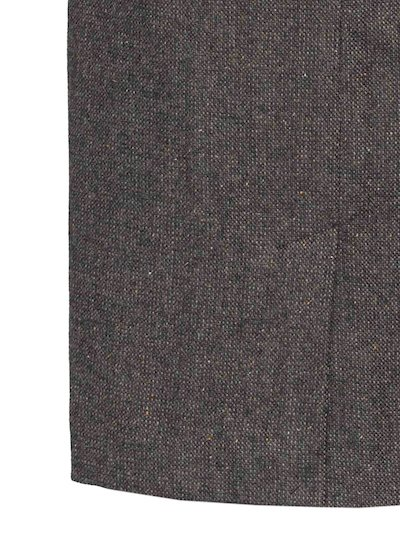 Ladies Brown Hopsack Calf Length Skirt