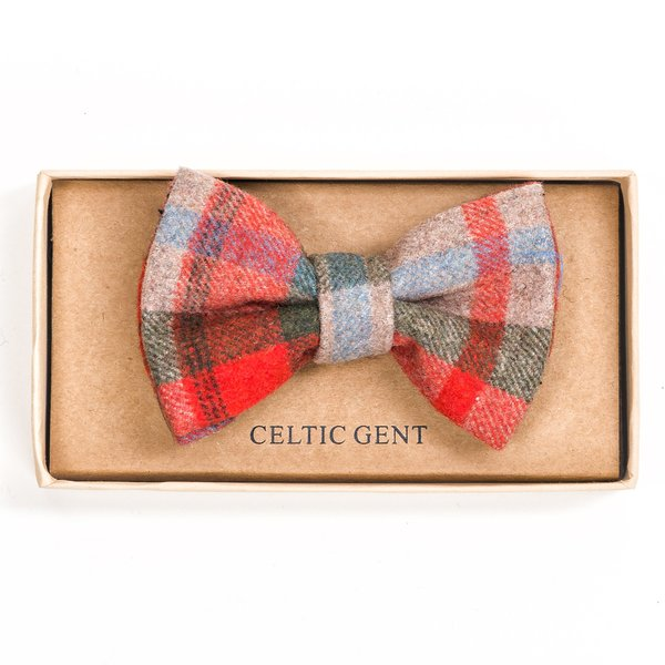 Red Checked Bow Tie - Red