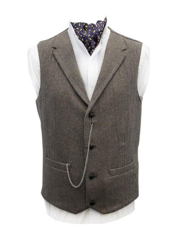 Byrne Beige Tweed Waistcoat with Revere