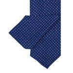 Cravate bleu marine à motif cachemire