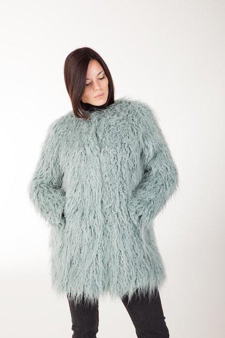 Faux Fur Coat Round Collar