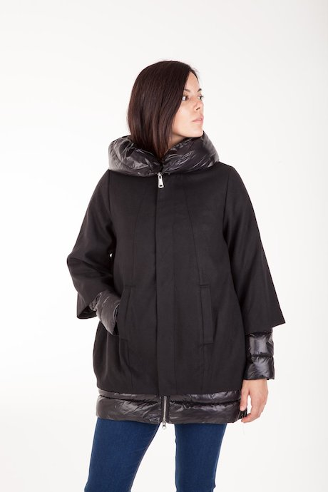 Oversized Short Coat couplead with Detachable Down Jacket