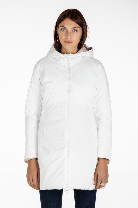 Reversible Down Jacket with Synthetic Padding