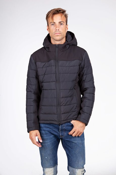 Bimaterial Down Jacket