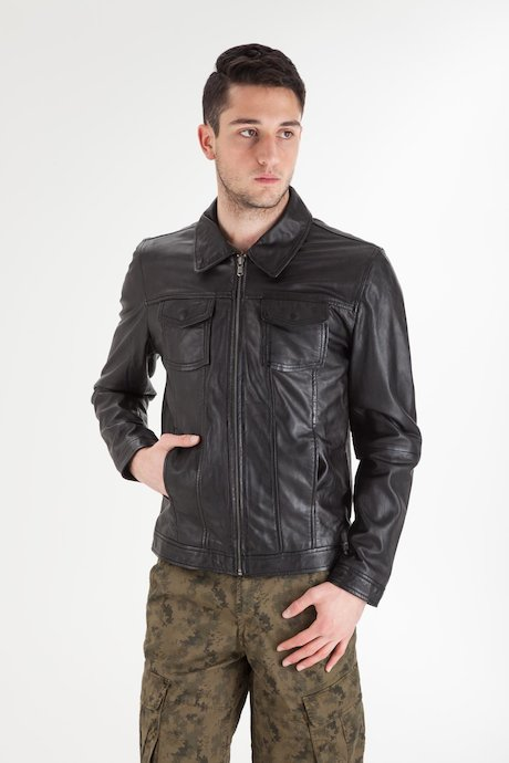 Man's Leather Jacket - JMDRAPPSSHT